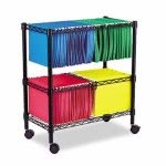 Alera Two-Tier Rolling File Cart, 26w x14d x 29-1/2h, Black (ALEFW601426BL)