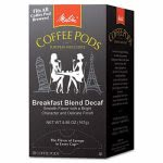 Melitta Coffee Pods, Breakfast Blend Decaf, 18 Pods/Box (MLA75413)