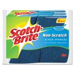 Scotch-brite Non-Scratch Multi-Purpose Scrub Sponge, Blue, 6 Sponges (MMM526)