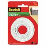 Scotch Foam Mounting Double-Sided Tape, 1/2 Wide x 75 Long (MMM110)