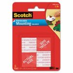 "Scotch Precut Foam 1"" Mounting Squares, Double-Sided, 16 Squares (MMM108)"