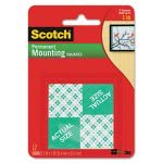 Scotch Precut Foam Mounting 1 Squares, Double-Sided, Permanent 16/Pack (MMM111P)