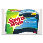 Non-Scratch Multi-Purpose Scrub Sponge, 4 2/5 x 2 3/5, 3 Sponges (MMMMP3)