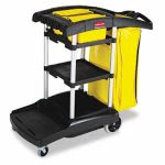 rubbermaid-9t7200-high-capacity-cleaning-cart-wvinyl-bag-black-rcp9t7200bk