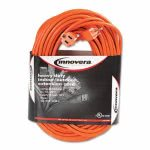 Innovera Indoor/Outdoor Extension Cord, 100 Feet, Orange (IVR72200)