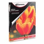 Innovera Glossy Photo Paper, 8-1/2 x 11, 100 Sheets/Pack (IVR99490)