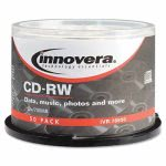 Innovera CD-RW Discs, 80 minutes, 12x Recording Speed,  50 per Pack (IVR78850)
