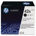 HP 42X, (Q5942X) High Yield Black Original LaserJet Toner Cartridge (HEWQ5942X)