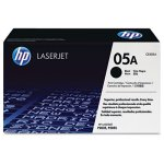 HP 05A, (CE505A) Black Original LaserJet Toner Cartridge (HEWCE505A)