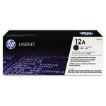 HP 12A, (Q2612A) Black Original LaserJet Toner Cartridge (HEWQ2612A)
