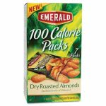 Emerald 100 Calorie Pack Dry Roasted Almonds, .63 oz Packs, 7 Packs (DFD34895)