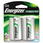 Energizer e² NiMH Rechargeable Batteries, D, 2 Batteries/Pack (EVENH50BP2)