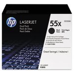 HP 55X, 2-pack High Yield Black Original LaserJet Toner Cartridges (HEWCE255XD)
