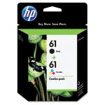 hp-61-cr259fn-2-pack-black-tri-color-original-ink-cartridges-hewcr259fn