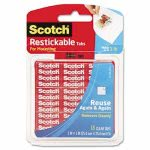 scotch-restickable-mounting-tabs-1-x-1-clear-18pack-mmmr100