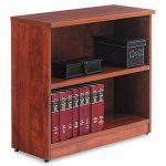 alera-valencia-series-bookcase-2-shelves-medium-cherry-aleva633032mc