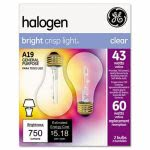 Ge Halogen Bulb, Globe, 43 Watts, Bright Crisp Light, 2 Bulbs(GEL78796)
