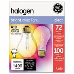Ge Halogen Bulb, Globe, 72 Watts, Bright Crisp Light, 2 Bulbs (GEL78798)
