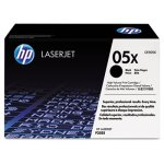 HP 05X, (CE505X) High Yield Black Original LaserJet Toner Cartridge (HEWCE505X)
