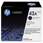 HP 42A, (Q5942A) Black Original LaserJet Toner Cartridge (HEWQ5942A)