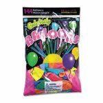 Tablemate Helium Quality Latex Balloons, 12 Assorted Colors, 144/Pack (TBL1200)