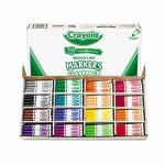 Crayola Non-Washable Markers, Broad Point, 16 Colors, 256 per Box (CYO588201)
