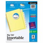 avery-worksaver-big-tab-reinforced-dividers-wclear-tabs-8-tab-letter-buff-ave11112