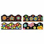 "Terrific Trimmers Border, 2 1/4 x 39"",  Bright On Black, 48 Borders (TEPT92919)"