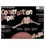 astrobrights-construction-paper-72-lb-12-x-18-grizzly-brown-50-sheetspack-wau20703