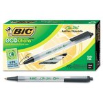 bic-ecolutions-ballpoint-retractable-pen-black-ink-medium-dozen-biccsem11bk
