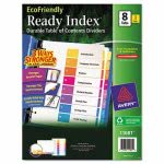 Avery Table of Contents 8-Tab Dividers, 1-8, Letter, 3 Sets (AVE11081)