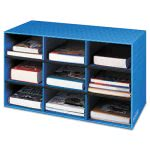 fellowes-classroom-literature-sorter-9-compartments-blue-fel3380701