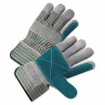 Anchor Brand 2000 Series Leather Palm Gloves, Gray/Green/Red (ANR2300)
