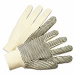 Anchor Brand PVC-Dotted Canvas Gloves, White, One Size Fits All (ANR1000)