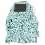 Boardwalk Loop-End Mop Head, Cotton With Scrub Pad, Medium, 12 Mops (BWK902BL)
