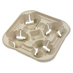 chinet-strong-holder-molded-fiber-cup-tray-four-cups-300-trays-huh20972