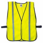 Ergodyne GloWear 8020HL Safety Vest w/Hook Closure, Lime, One Size (EGO20040)