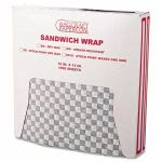 12-x-12-grease-resistant-black-checkered-wrapliners-5000-sheets-bgc-057800