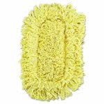 Rubbermaid Trapper Dust Mop, Looped-end, Yellow, 12 Mops Heads (RCPJ15112CT)