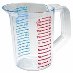 Rubbermaid Bouncer 1-Pint Measuring Cup, Clear (RCP 3215 CLE)