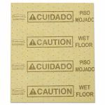 Rubbermaid 4252 Over-the-Spill Pads, Caution Wet Floor, 22 Pads (RCP4252YEL)