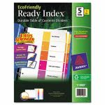 Avery Table of Contents 5-Tab Dividers, 1-5, Letter, 3 Sets (AVE11080)