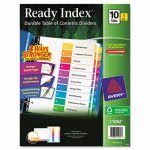 Avery Ready Index Table of Contents Divider, 1-10, Letter, 3 Sets (AVE11082)