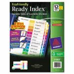Avery Index Table of Contents Divider, Multicolor 1-12, Letter, 3/PK (AVE11083)