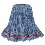 rubbermaid-web-foot-looped-end-mop-head-cotton-med-blu-6ct-rcpa11206