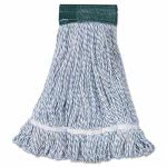 Unisan Medium Blue Stripe Mop Head, Loop-End, 12 Mop Heads (BWK552)