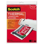 Scotch Letter Size Thermal Laminating Pouches, 20 Pouches (MMMTP385420)