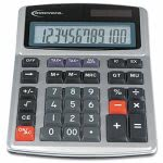 innovera-15971-large-digit-commercial-calculator-12-digit-lcd-dual-power-silver-ivr15975