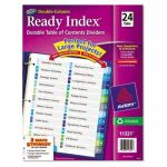 Avery Two-Column Table of Contents Dividers, 1-24,  24 Dividers (AVE11321)