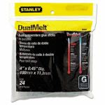 Stanley Bostitch Dual Temperature Glue Sticks, 4 in Stick, 24/Pack (BOSGS20DT)